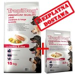 TROPIDOG PREMIUM ADULT M&L -TURKEY & RICE 15+2,5kg
