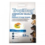 TROPIDOG PREMIUM  ADULT M&L - SALMON & RICE 2,5 kg