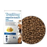 TROPIDOG PREMIUM ADULT SMALL  BREEDS - SALMON & RICE 8kg