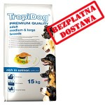 TROPIDOG PREMIUM  ADULT M&L - SALMON & RICE 15kg