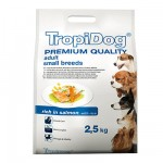 TROPIDOG PREMIUM ADULT SMALL  BREEDS - SALMON & RICE 2,5kg