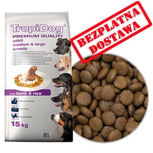TROPIDOG PREMIUM ADULT MEDIUM & LARGE BREEDS - LAMB & RICE 12kg